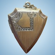 Vintage Art Deco Shield shaped locket