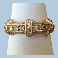Vintage 14 kt yellow gold ring set with .33 CTW diamonds