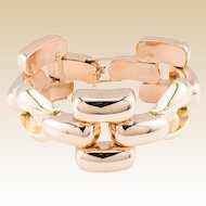 14K Tiffany Retro Bracelet Solid Yellow Rose Gold