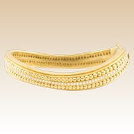 18k Kieselstein Diamond Bracelet Vintage Bangle Estate Signed Yellow Gold