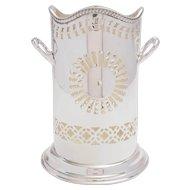 Victorian Silver Plated Pierced Bottle Holder