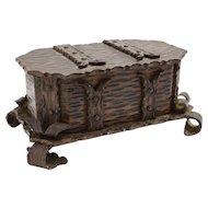 Arts & Crafts Bronzed Trinket Box