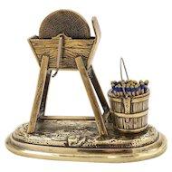 Victorian Novelty Brass Vesta, Circa 1880