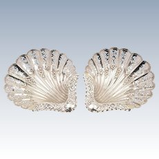 Pair of Victorian Silver Dishes, Sheffield 1896