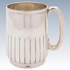 Victorian Silver Plated Pint Tankard, Circa 1890