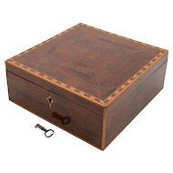 Victorian Mahogany Jewellery Box, Circa 1880