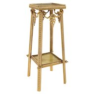 French Brass and Onyx Display Stand, Circa 1910