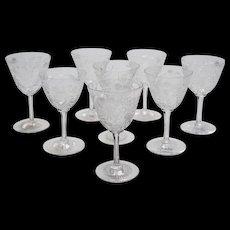 Edwardian Glasses, 8 + 4, Circa 1905