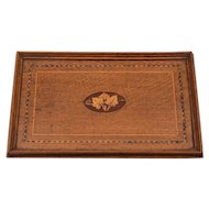 Edwardian Inlaid Oak Tray, Circa 1905