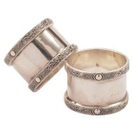 Pair of Silver Napkin Rings, Birmginham 1939