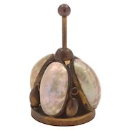 French Brass and Shell Table Bell, Circa 1900