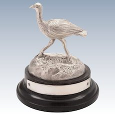 Silver Plated Emu Trophy, Circa 1910