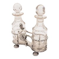 Novelty Silver Oil and Vinegar Cruet, London 1916
