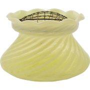 Yellow Vaseline Glass Posey Vase, Circa 1900