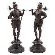 Pair of European Spelter Figures, Circa 1880
