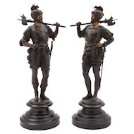 Pair of European Spelter Figures, Circa 1880