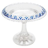 Victorian Cut Glass Tazza, Circa 1890
