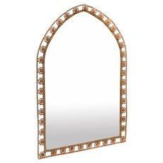 Victorian Gilded Brass Mirror, Circa 1890