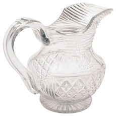 Georgian Cut Glass Jug/Pitcher, Circa 1810