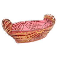 Regency Cranberry Glass Bon Bon Dish, Circa 1830