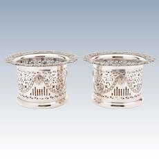 Pair of Victorian Silver Plated Champagne Coasters, Circa 1880