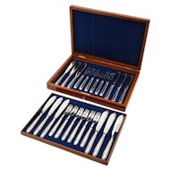 Victorian Cased 12+12 Fish Set, Circa 1880