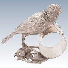 Silver Plated Novelty Bird Napkin Ring, Circa 1900