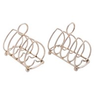 Victorian Pair of Silver Toast Racks, Birmingham 1899