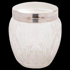 Victorian Cut Glass Biscuit Box, Circa 1890