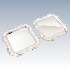 Pair of Silver Plated Card Trays, Circa 1905