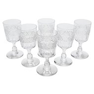 Set of 6 Edwardian Sherry Glasses, Circa 1905