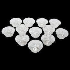 Edwardian Set of 12 Cut Glass Finger Bowls, Circa 1905