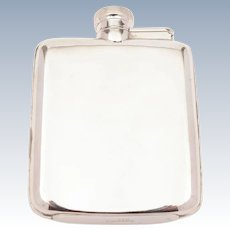 Silver Plated Hip Flask, Circa 1920