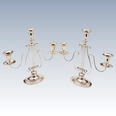 Pair of Georgian Sheffield Plated Candelabras, Circa 1810