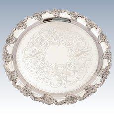 Edwardian Silver Plated Tray, Circa 1905