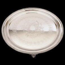 Large Victorian Silver Plated Salver/Tray, Circa 1880