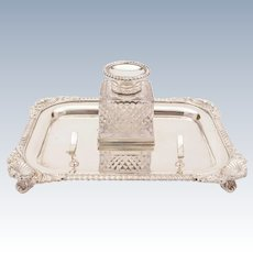 Edwardian Silver Plated Ink Stand, Circa 1905