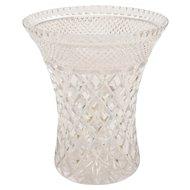 Large Cut Glass Vase, Circa 1920
