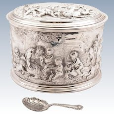 Grand Victorian Silver Plated Tea Caddy, Circa 1870