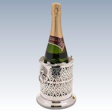 Edwardian Silver Plated Bottle Holder, Circa 1905