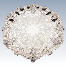 Victorian Silver Plated Salver, Circa 1880