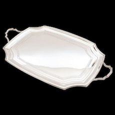 Edwardian Silver Plated Serving Tray, Circa 1905