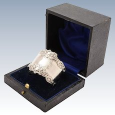 Edwardian Silver Cased Napkin Ring, Chester 1908