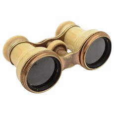Pair of Bone and Brass Opera Glasses, Circa 1900