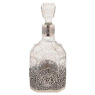Dutch Silver and Glass Decanter, 1928