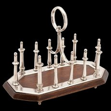 Victorian Oak and Silver Plated Toast Rack, Circa 1890