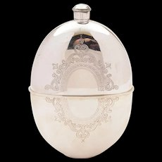 Victorian Large Silver Plated Hip Flask, Circa 1890