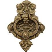 Edwardian Large Brass Door Knocker, Circa 1905
