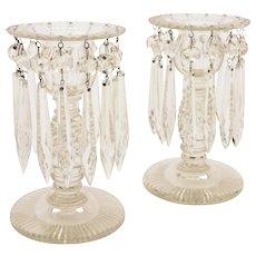 Pair of Edwardian Cut Glass Lustres, Circa 1905