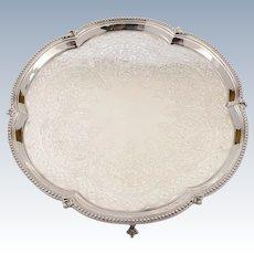 Victorian Silver Plated Salver, Circa 1890